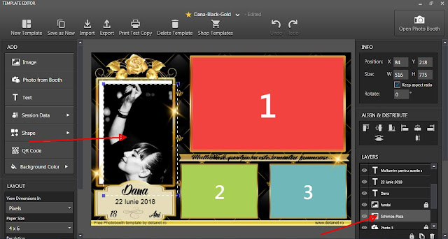 PhotoBooth template Black-Gold