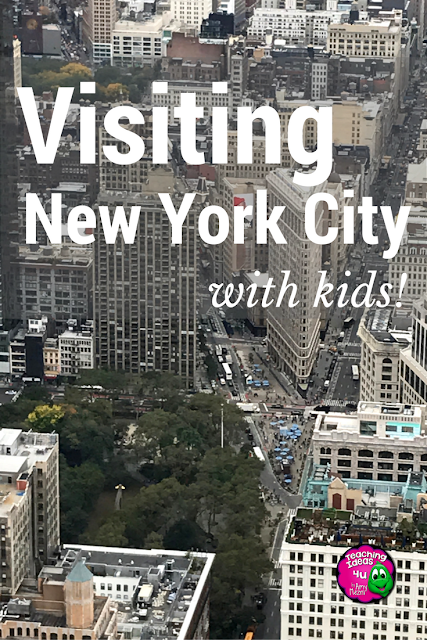 Tips for visiting NYC with school aged kids.