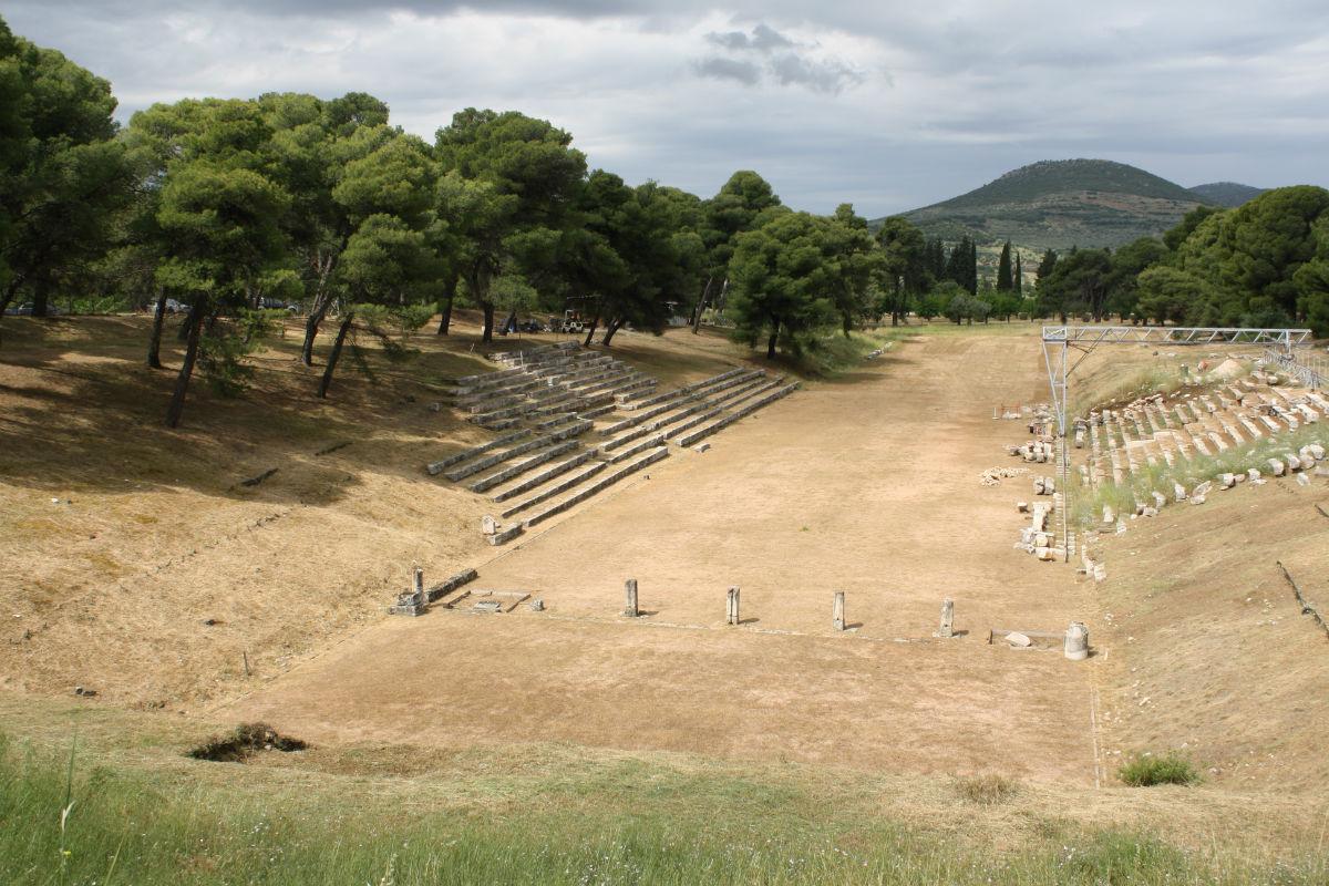 Estádio olímpico nos tempos do império Grego