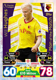 Match Attax 2017//18 Premier League #398 Tommy Smith-Man of the Match