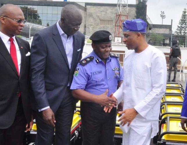 Photo: Lagos State Gov, Ambode Donates 120 Generating Sets To Police - Teelamford.com