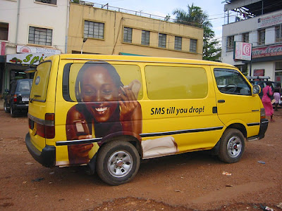 Mobile phone advertising in Ghana