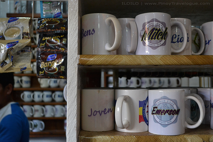 Madge Cafe customer's personalized coffee mugs