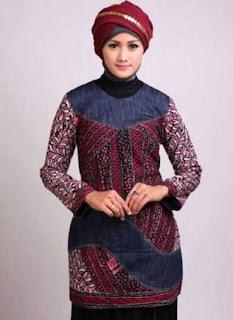 Model Baju Batik Atasan Tunik Cantik Dan Casual
