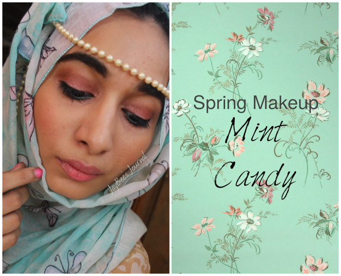 spring makeup mint hijabi pakistan, Pakistani beauty fashion lifestyle blog