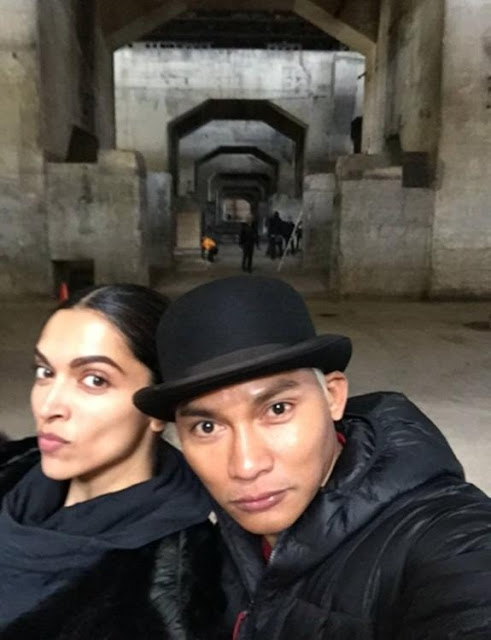 Deepika Padukone And Tony Jaa On The Set Of xXx