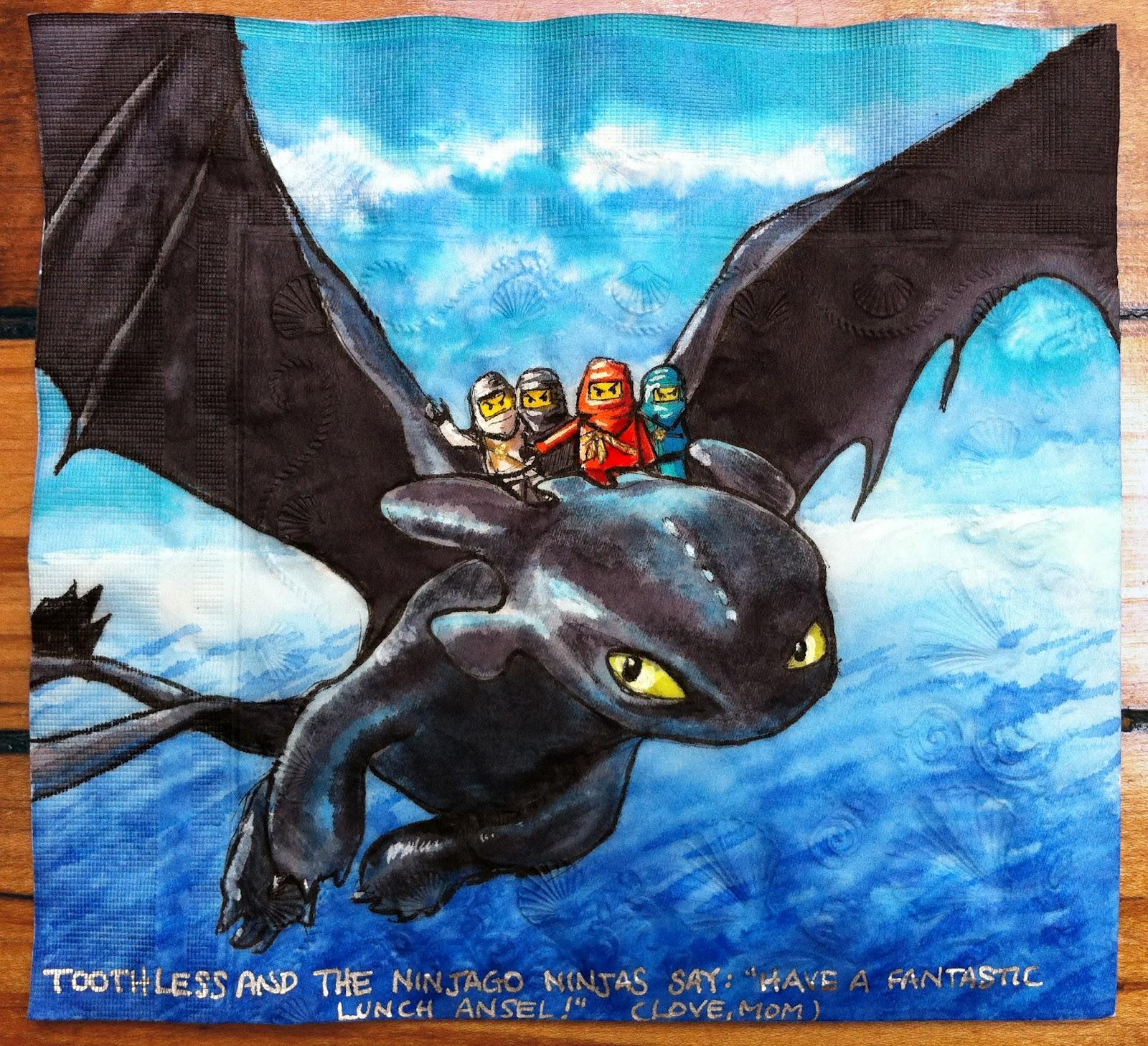 Daily Napkins: Toothless and Lego Ninjago Ninjas for Ansel - photo#29