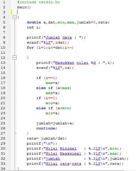 Latihan Program Looping Bahasa C