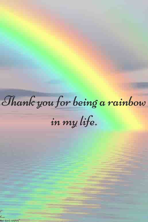 thank you my life with rainbow