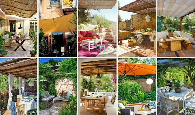 Ιδέες - τρόποι για Σκίαση σε Κήπο-Μπαλκόνι
