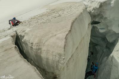 Hochtouren, Gletscher, ewiges Eis - die höchsten Berge der Welt - Risiko und Gefahr als Weg zum Glück?