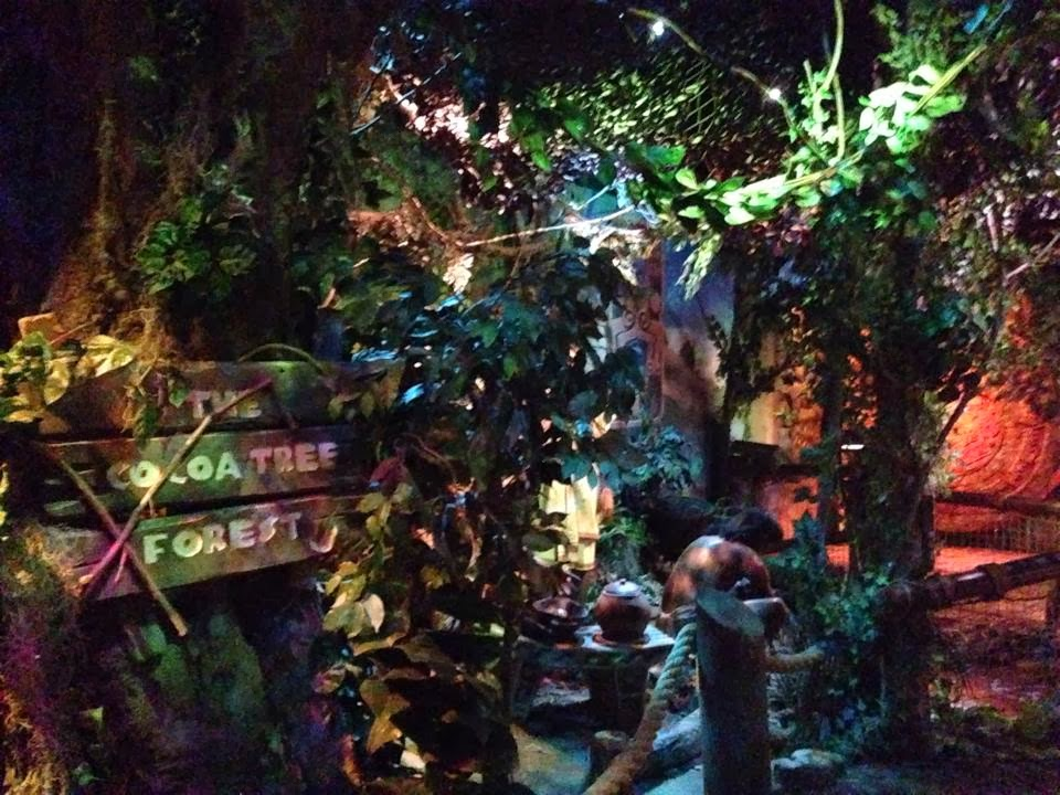 The fake Cocoa Tree forest on the Cadbury World tour