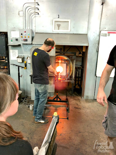 Once you have toured the Corning Museum of Glass in Corning, New York & did a little shopping, make plans to try your hand at making your own work of art to take home & book a glassmaking class in their studio.