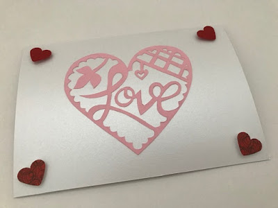 Paper cut Valentine's Day craft idea with Bostik