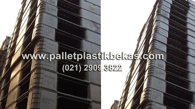 Pallet Plastik Bekas 110 x 110 x 15 cm Murah