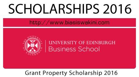 Grant Property Entrepreneurship Scholarship 2016