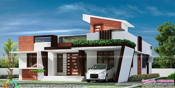 1653 sq-ft Contemporary one floor house
