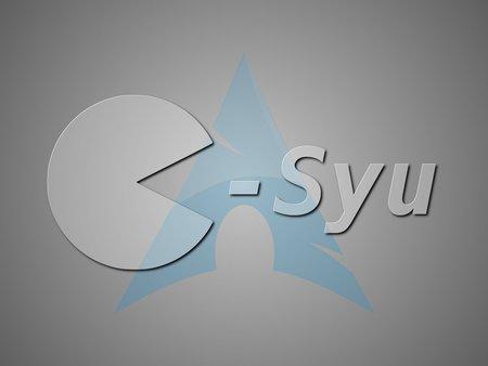 Ilustração com logos do pacman e yaourt