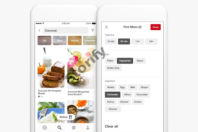 pinterest yemek tarifi arama özellikleri