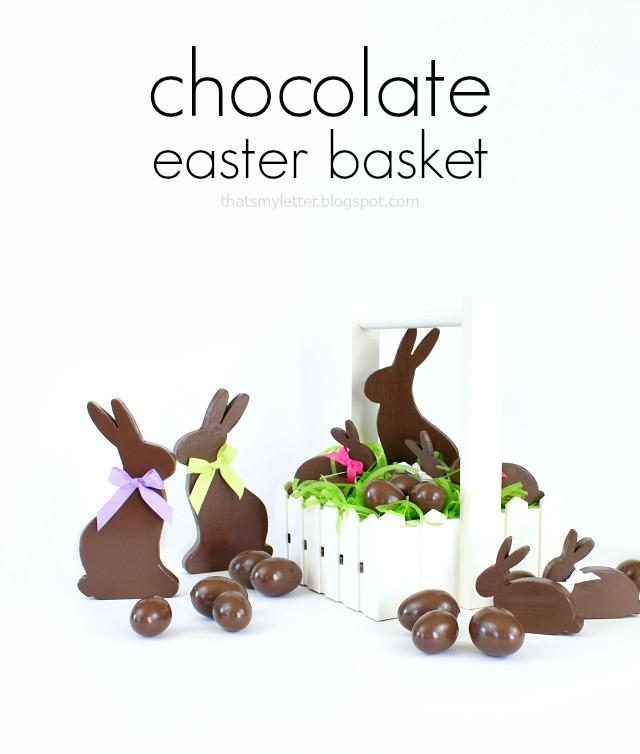 diy chocolate easter basket