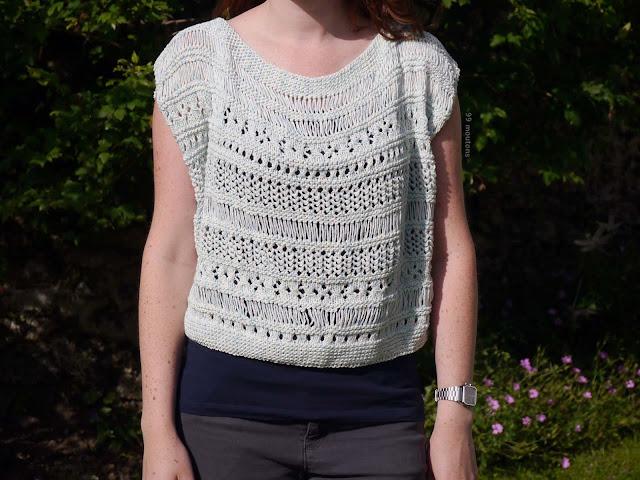 top d'été au tricot