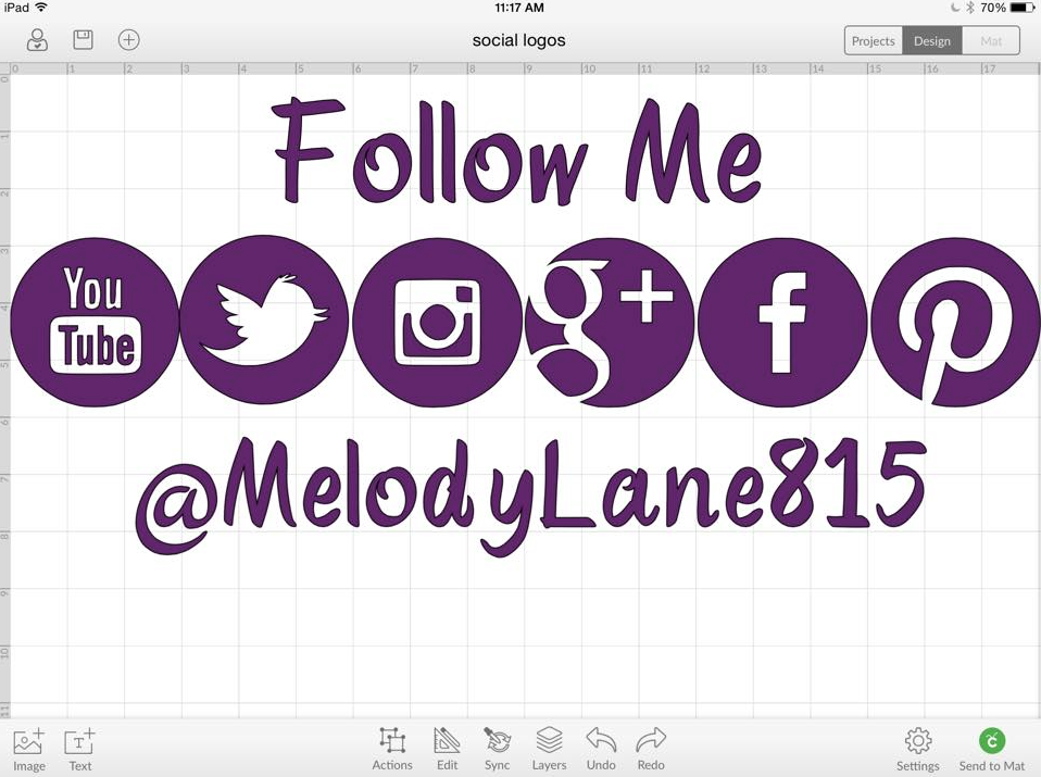 I love my iPad Cricut Design Space app  | Melody Lane Designs