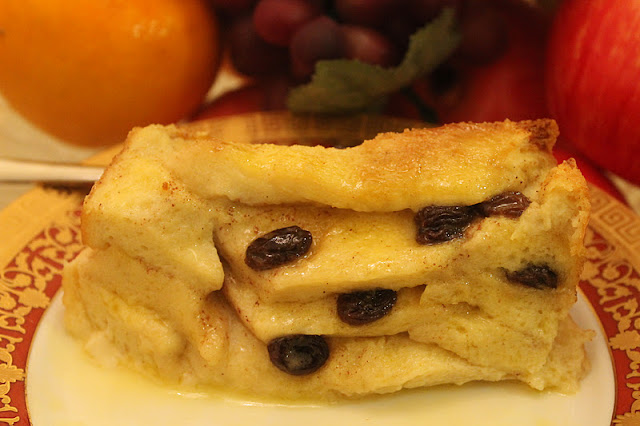 Traditional British Bread and Butter Pudding