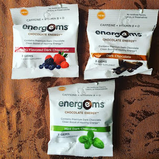 three packs of energems in different flavors