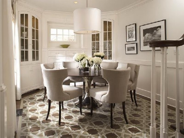 Modern Room with Round Dining Tables Modern Room with Round Dining Tables 8