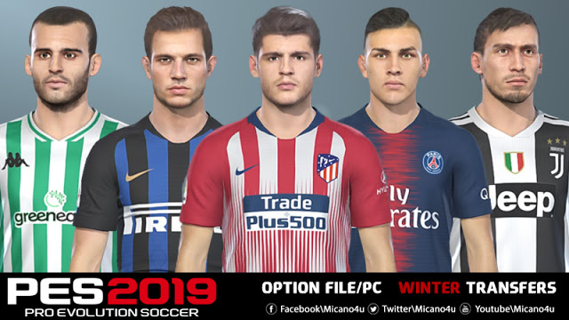 pes 2019 option file winter transfers 30 pc. Black Bedroom Furniture Sets. Home Design Ideas