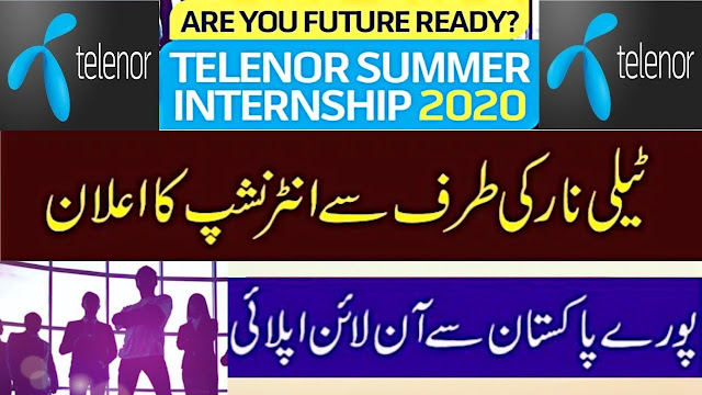 Telenor Internship Program 2020 for Male and Female