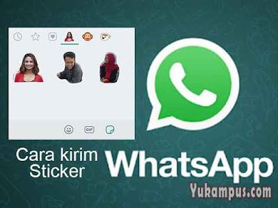 cara kirim sticker whatsapp