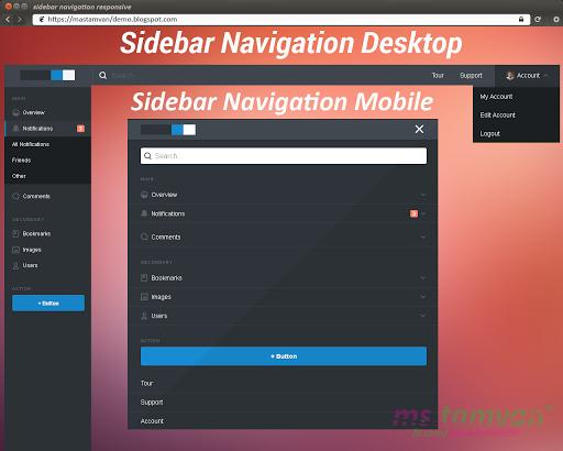 Membuat Sidebar Navigation Responsive Di Blog