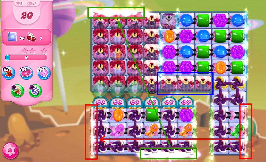 Candy Crush Saga level 6947