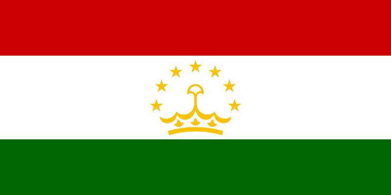 Logo Gambar Bendera Negara Tajikistan PNG JPG ukuran 800 px