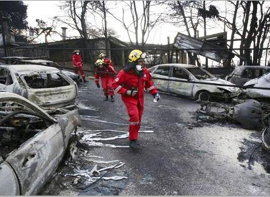 O Ελληνικός Ερυθρός Σταυρός ανοίγει τραπεζικό λογαριασμό για την ενίσχυση των πληγέντων από τις φονικές πυρκαγιές