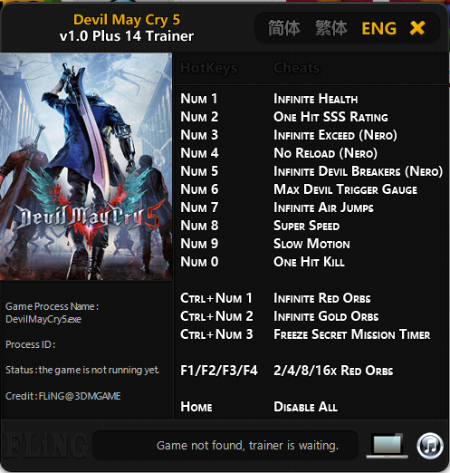 Trainer Cheat Devil May Cry 5 PC