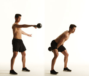 Learn to perform a swing-kettlebell