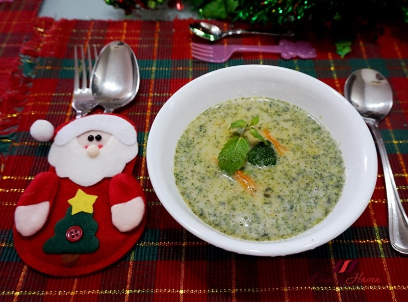 minty cream of broccoli soup for christmas