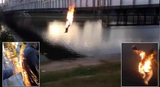 Νέα μόδα σοκάρει τους γονείς παγκοσμίως. Έφηβοι βάζουν φωτιά στον εαυτό τους και πηδούν στο Νερό για να τη σβήσουν!