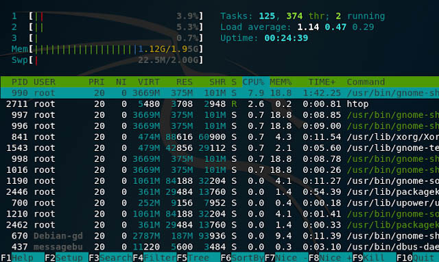 htop linux command
