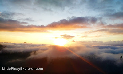 beautiful sunrise with clouds, sagada sunrise, kiltepan peak, little pinay explorer