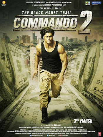 Commando 2 2017 pDVDRip Hindi x264 700MB mkv Download