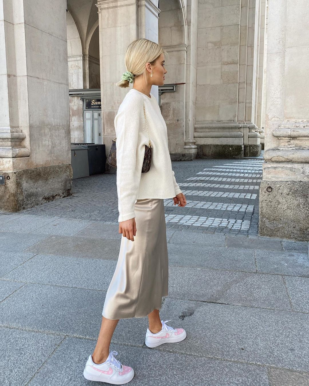 A Low-Key Way to Style a Slip Skirt