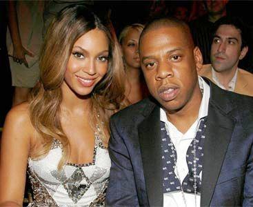 Foto de Beyoncé junto a Jaz-Z