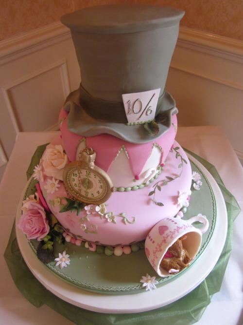 My Vintage Alice In Wonderland Wedding Cake Ideas