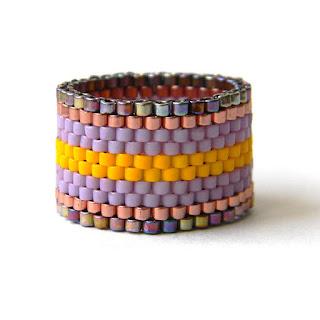 купить широкое кольцо россия крым анна белоус peyote ring
