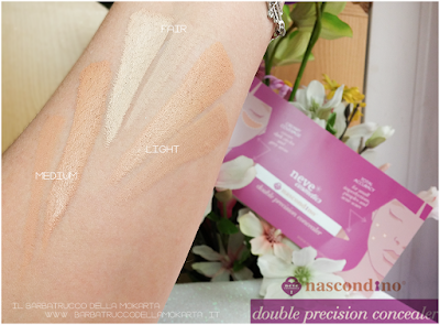 review recensione inci  swatches - nascondino, double precision concealer , neve cosmetics
