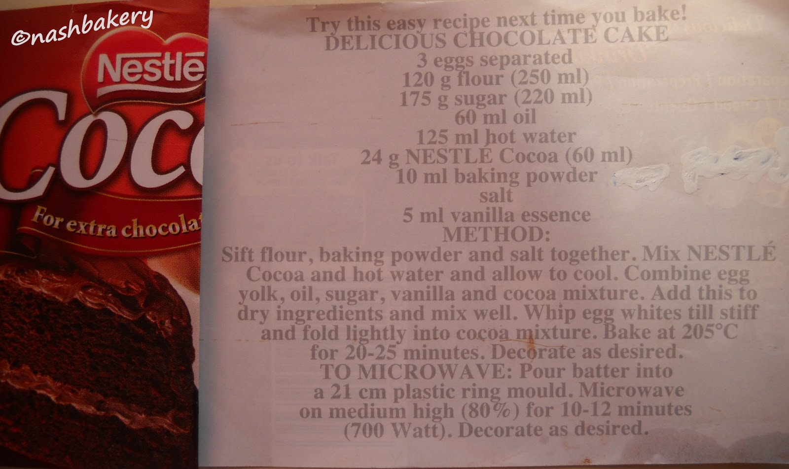 Nestle Vanilla Cake Recipe