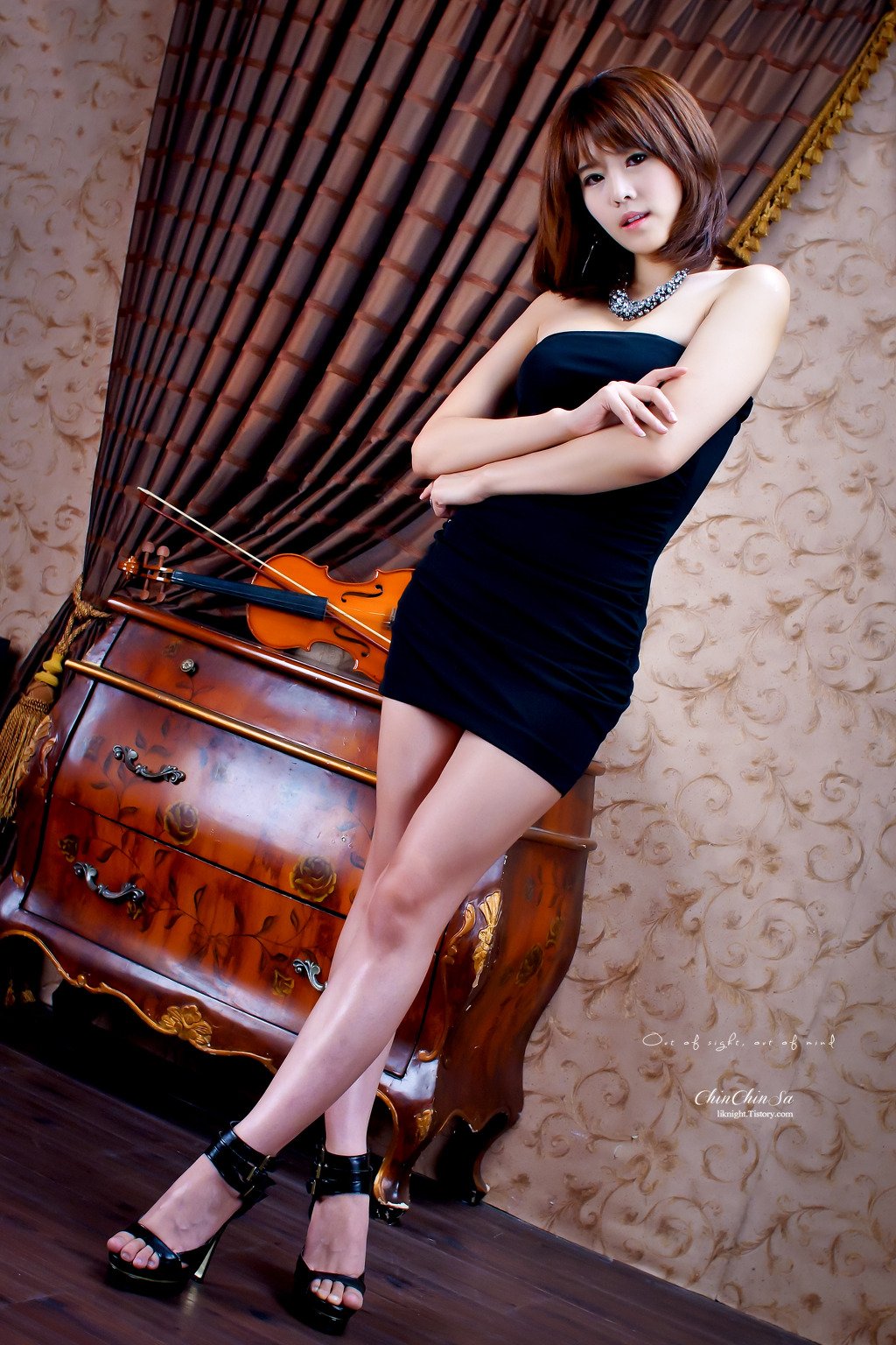 xxx nude girls: Jung Se On - Beige Mini Dress
